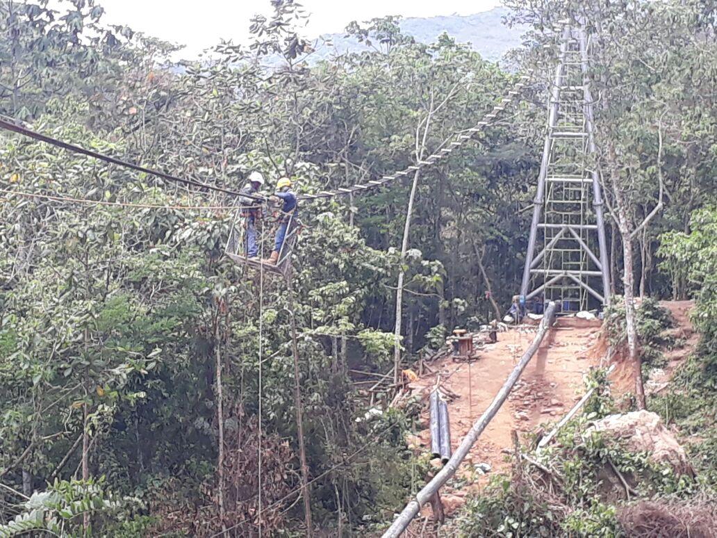 Avanzan obras de recuperación de paso elevado de acueducto de Aguazul