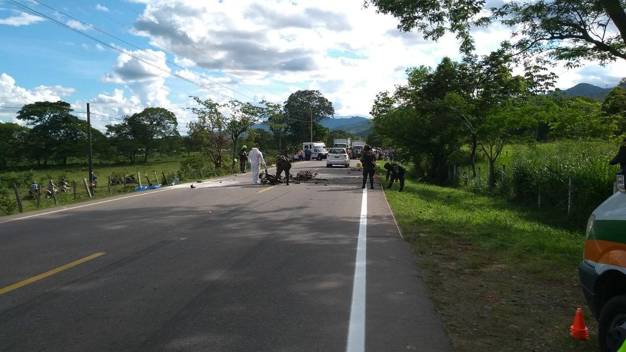 Nueva tragedia en vía Aguazul Yopal dos motociclistas muertos