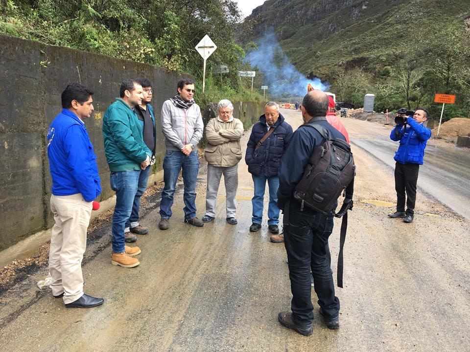 Veeduría de Sogamoso inspecciona obras en la Transversal del Cusiana
