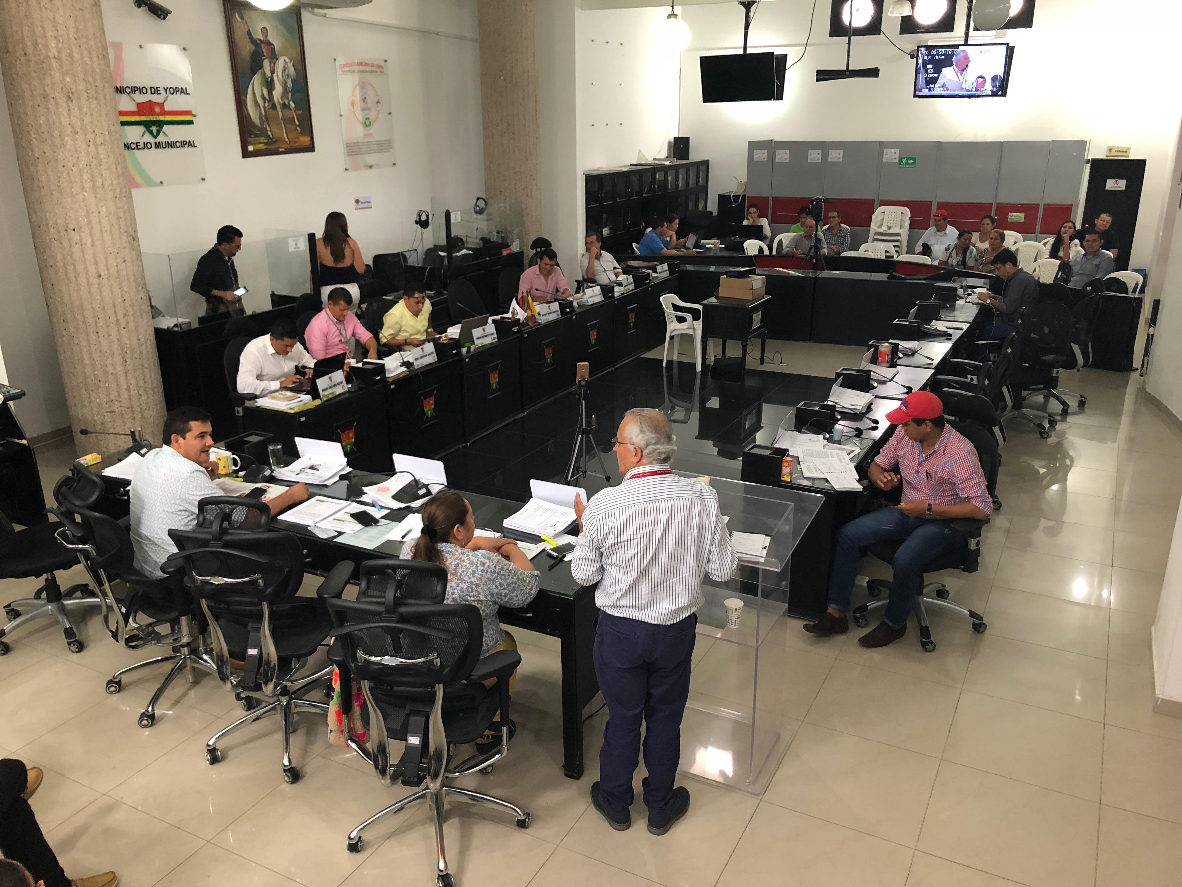 Concejo de Yopal concluye evaluación en comisión de plan de desarrollo
