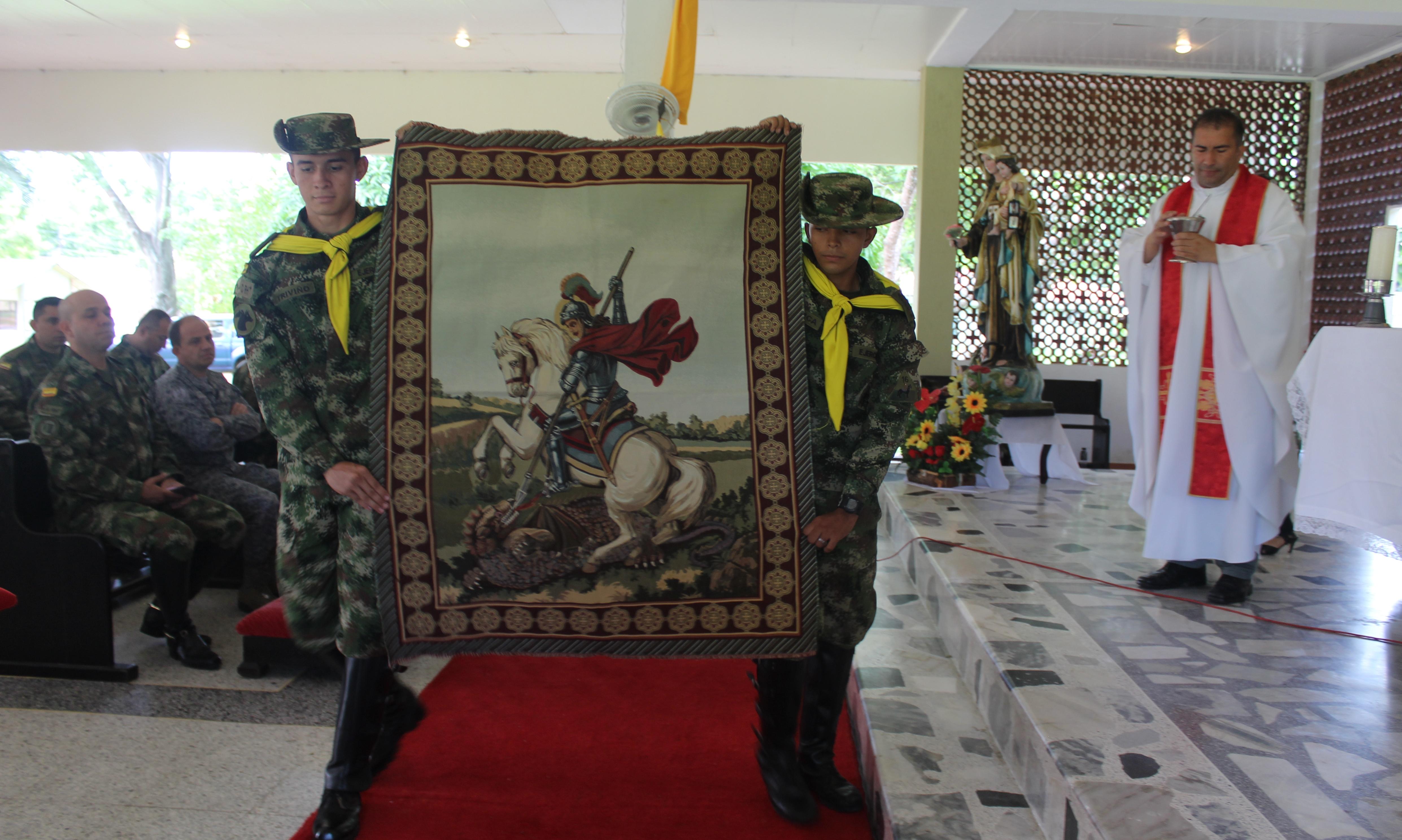 En Casanare.   Ejército Nacional recordó al patrono de la caballería