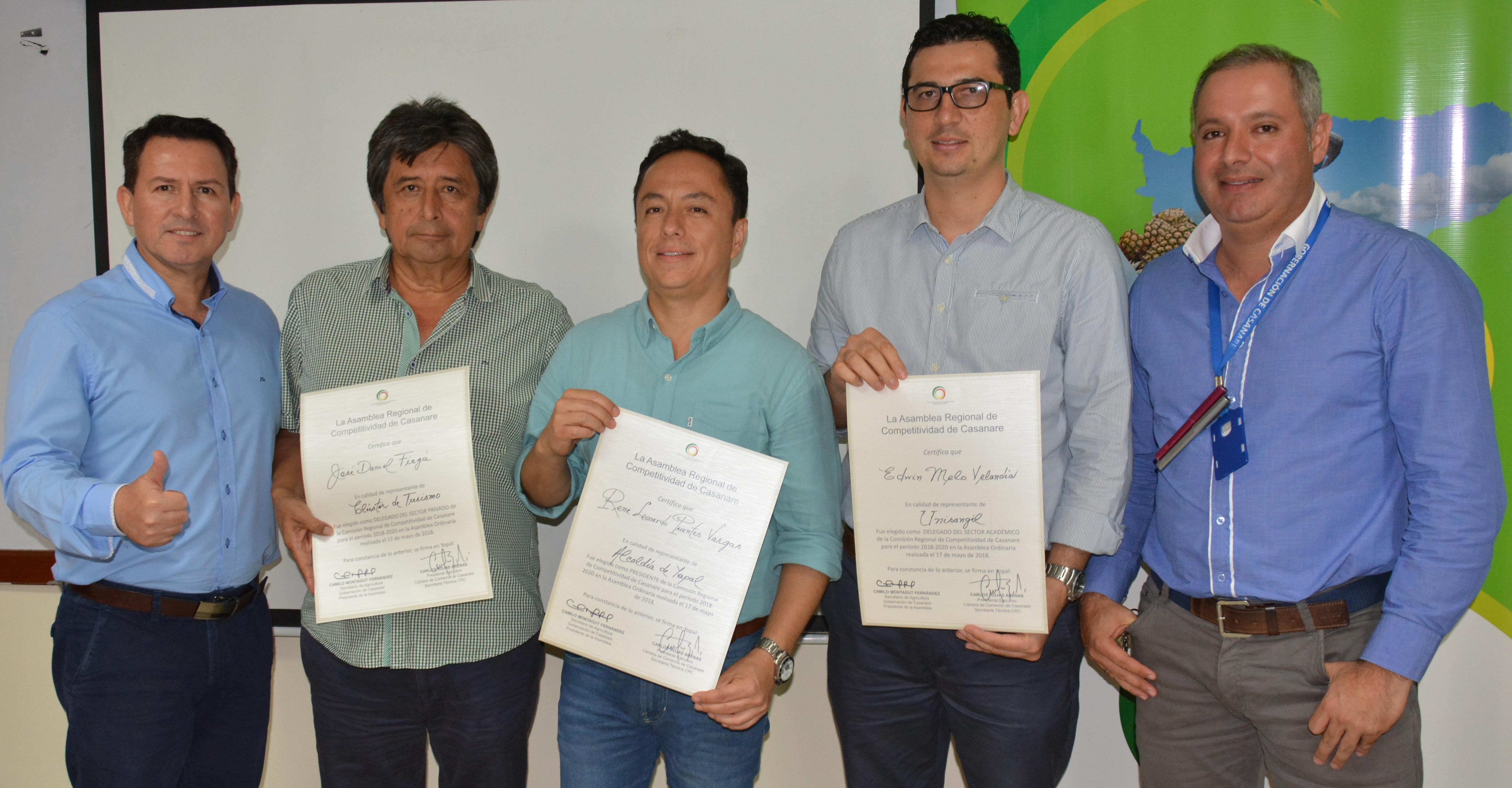 Leonardo Puentes elegido presidente de  Comisión Regional de Competitividad de Casanare