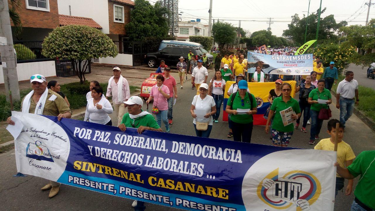 Cerca de unos 500 trabajadores de la salud, la educación, la justicia, obras públicas