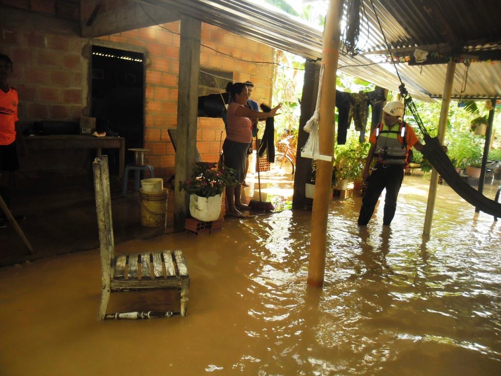 Rio Pauto desbordado  en vereda Elvecia de Paz de Ariporo