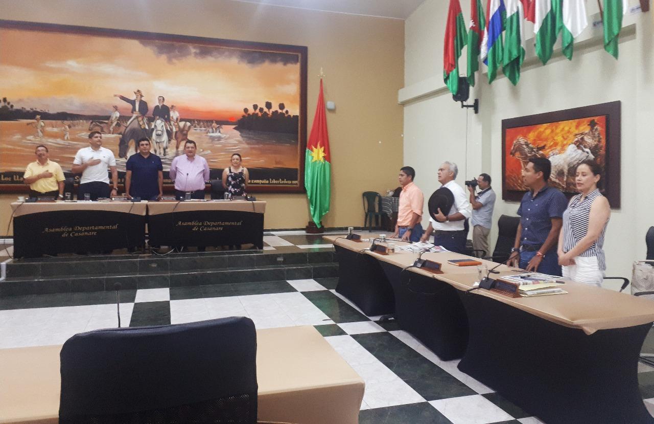 Inician  sesiones extras de la Asamblea del Casanare,  para estudiar 6 proyectos de ordenanza