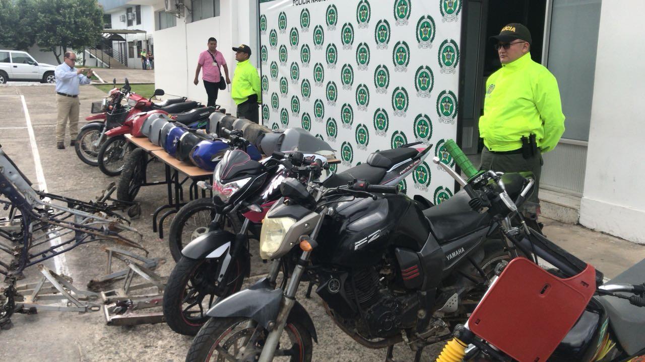 7 motocicletas incautadas y tres recuperadas por la policía en Casanare