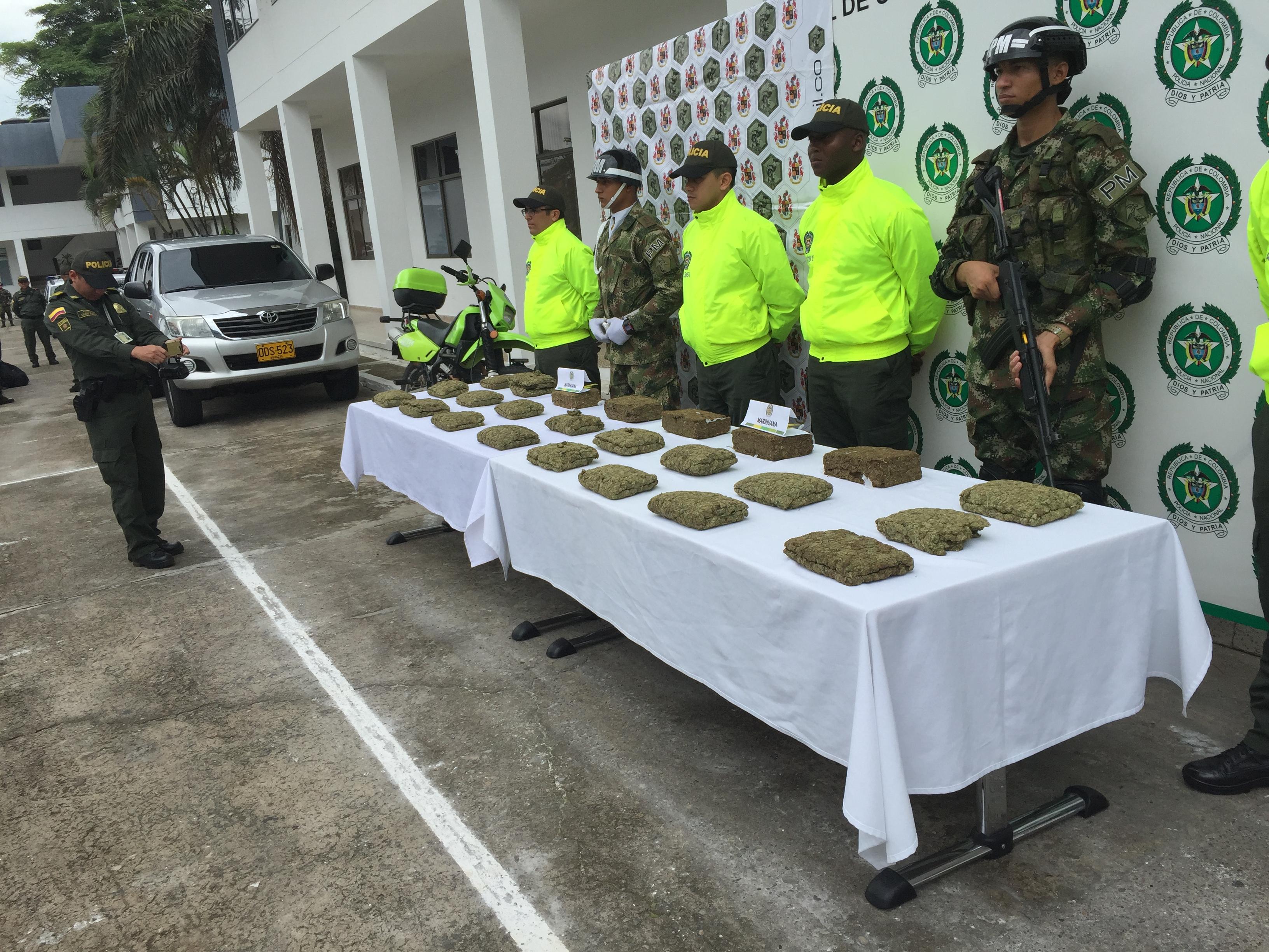 Incautan cargamento de Marihuana avaluada en $25 millones de pesos