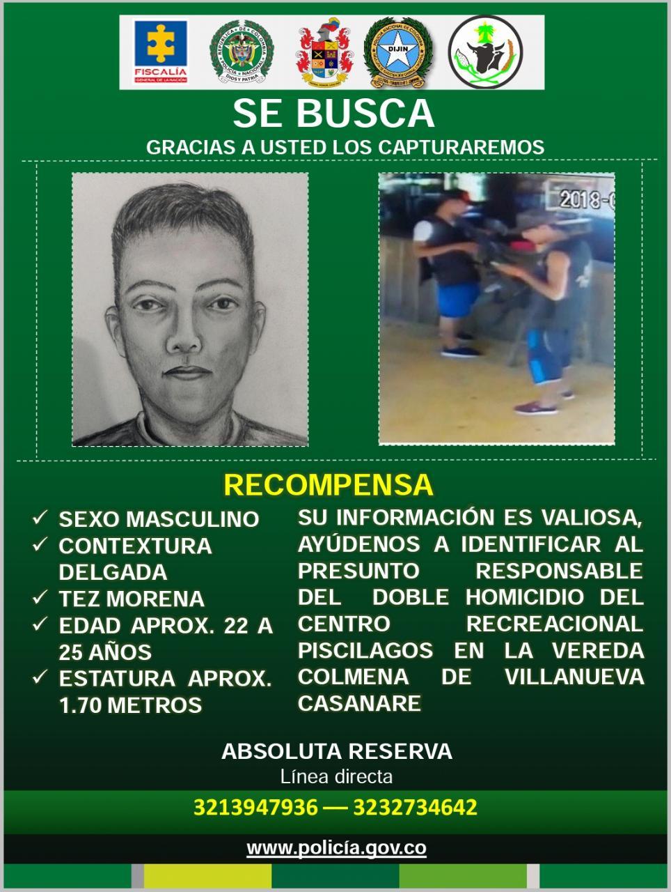 Revelan retrato hablado de presunto homicida de dos jóvenes en Villanueva