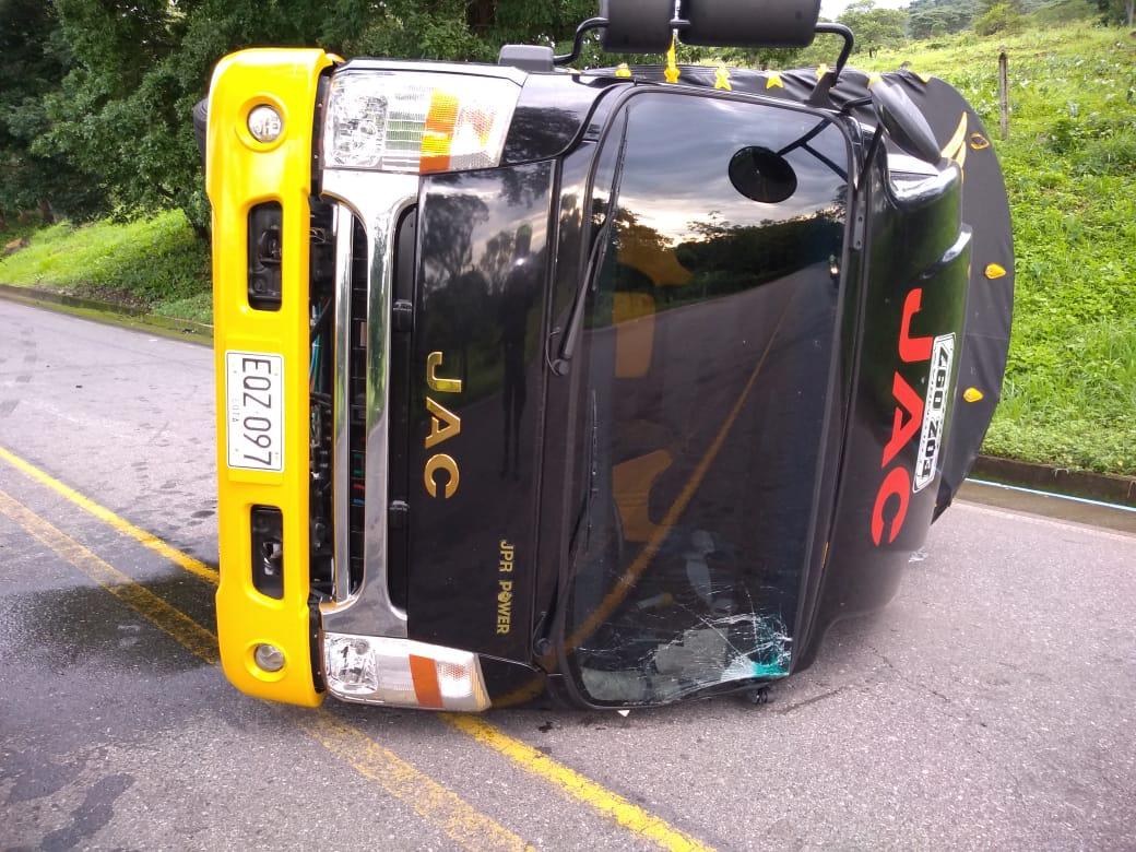 Accidente de tránsito deja un lesionado en vía a Paz de Ariporo