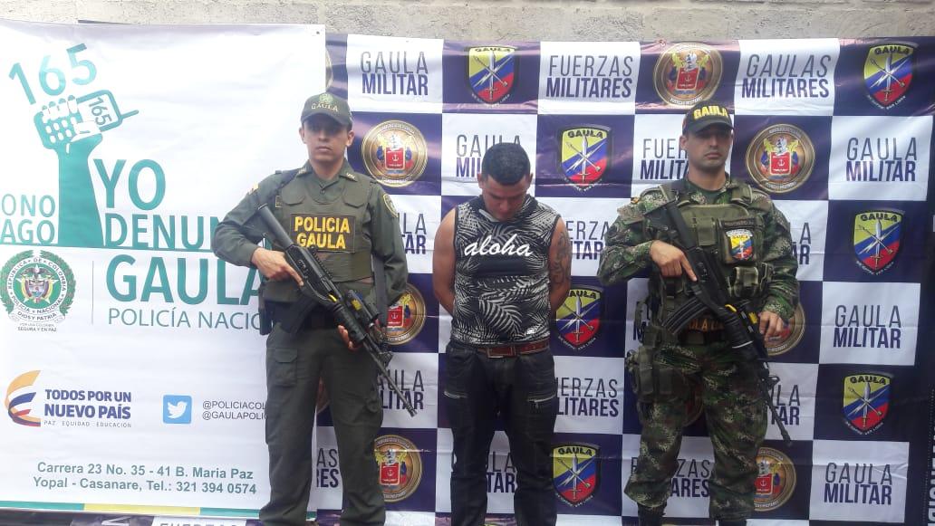 Capturado extorsionista en Aguazul que pedía  $ 50 millones
