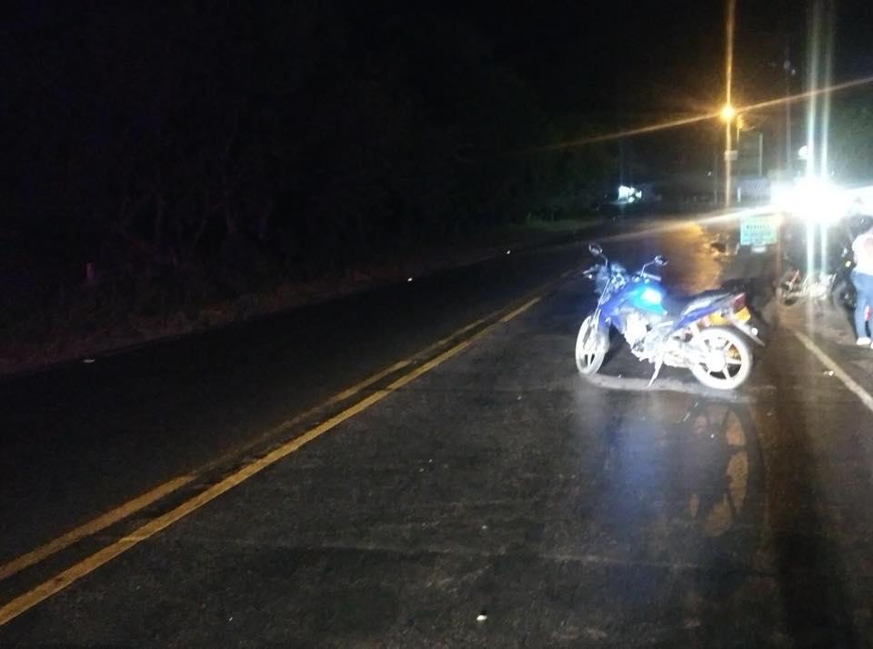 Una persona lesionada deja accidente de moto en Via Yopal Paz de Ariporo.