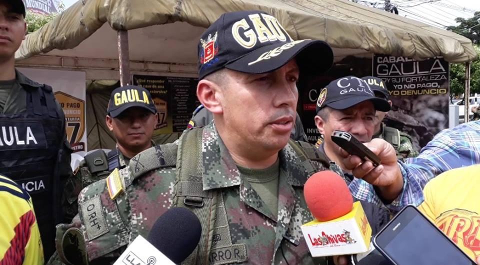 Gaula aumenta capturas por extorsiones en Casanare