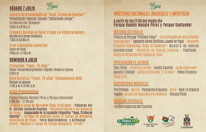 Hoy Yopal celebra 76 años de fundación