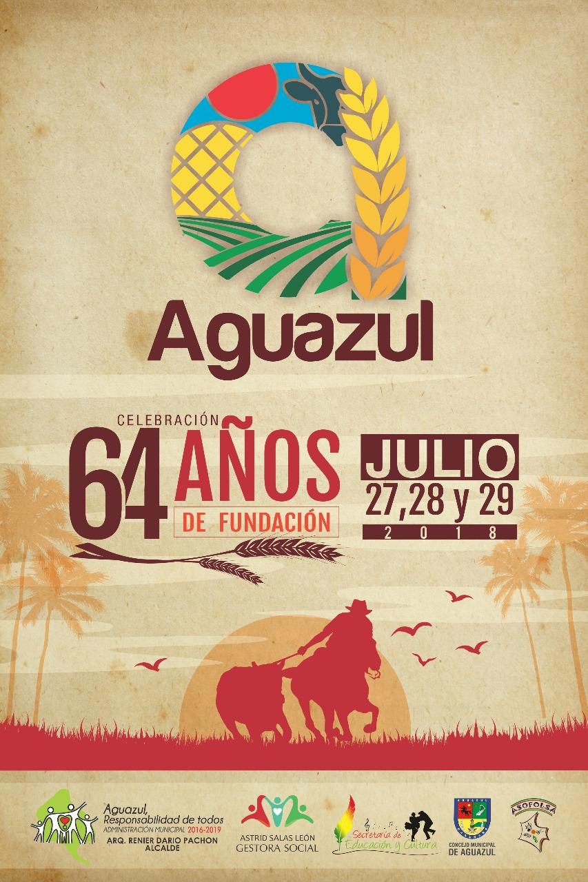 Desde hoy Aguazul celebra |64 años de Fundación