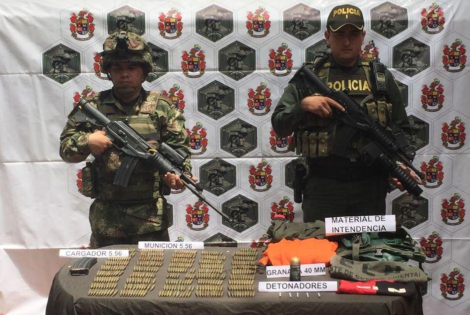 Ejército halló depósito con material de guerra en Hato Corozal