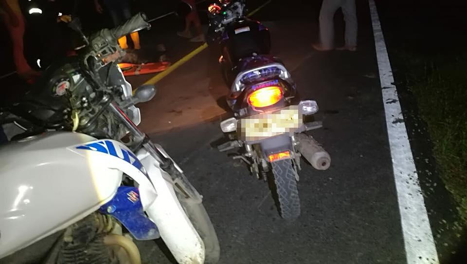 Dos motos  colisionan  y tres personas resultan lesionadas en Aguazul