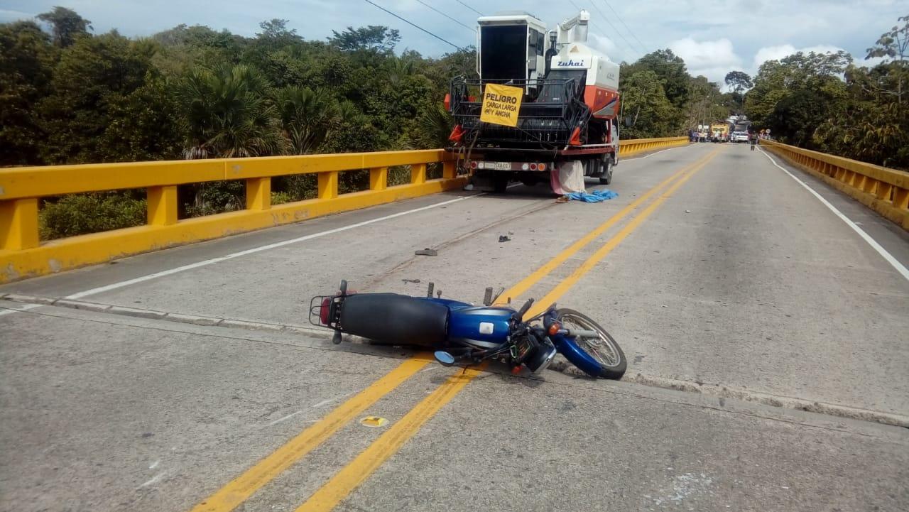 Muere  menor de edad en a accidente en vía Monterrey Yopal