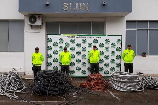 Policía incauta cable  de gran valor hurtado a petroleras