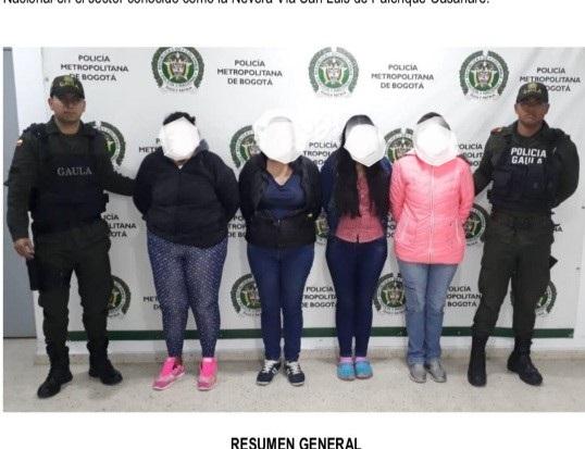 """Capturan cuatro mujeres que reclamaban giros de extorsiones realizadas por """"los garbanzos"""""""