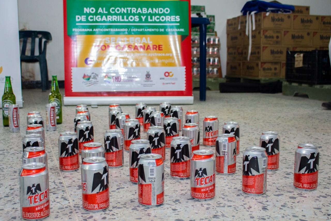 Incautan cervezas de contrabando en el comercio de Monterrey