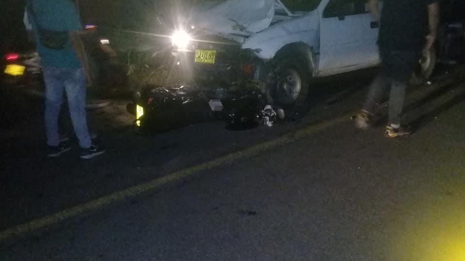 Accidente deja  una persona fallecida  detrás del aeropuerto de Yopal