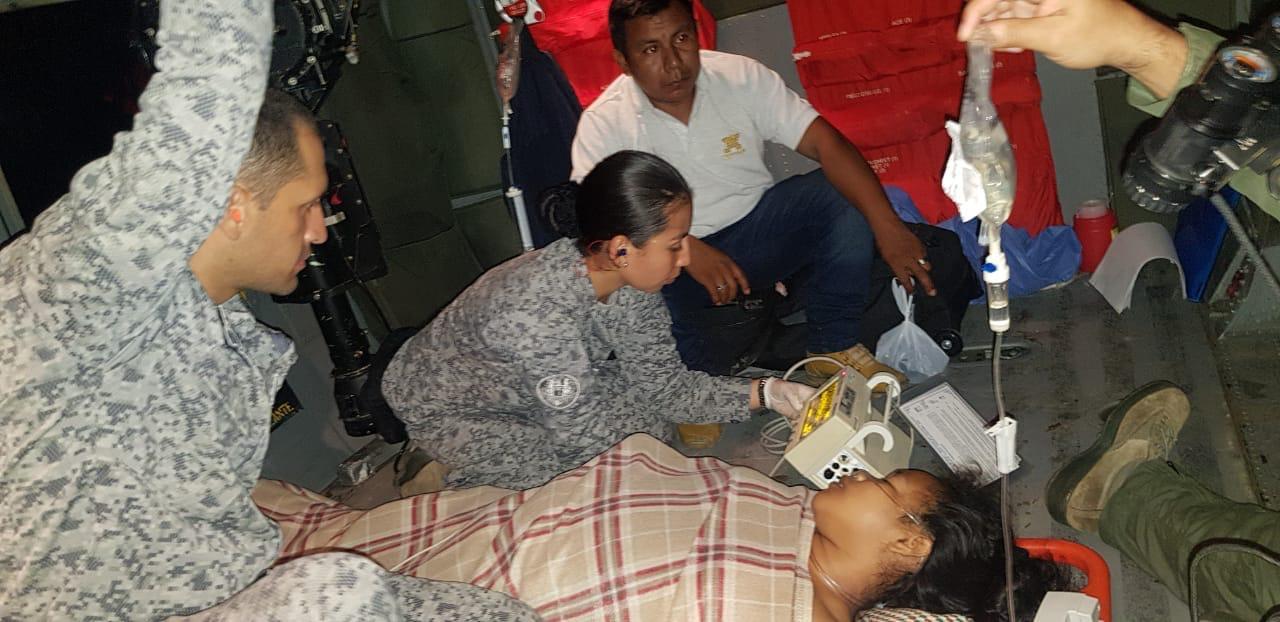 Fuerza Aérea salva vida de una mujer indígena embarazada