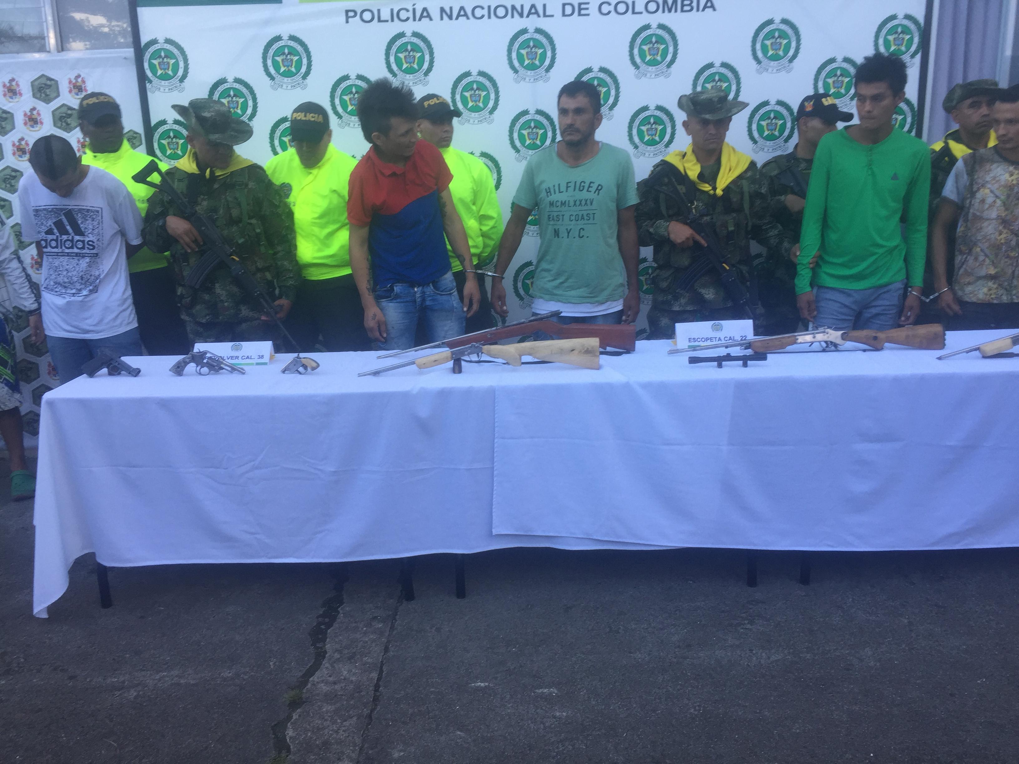 Capturan en Aguazul  una banda que vendía marihuana y elaboraba armas hechizas
