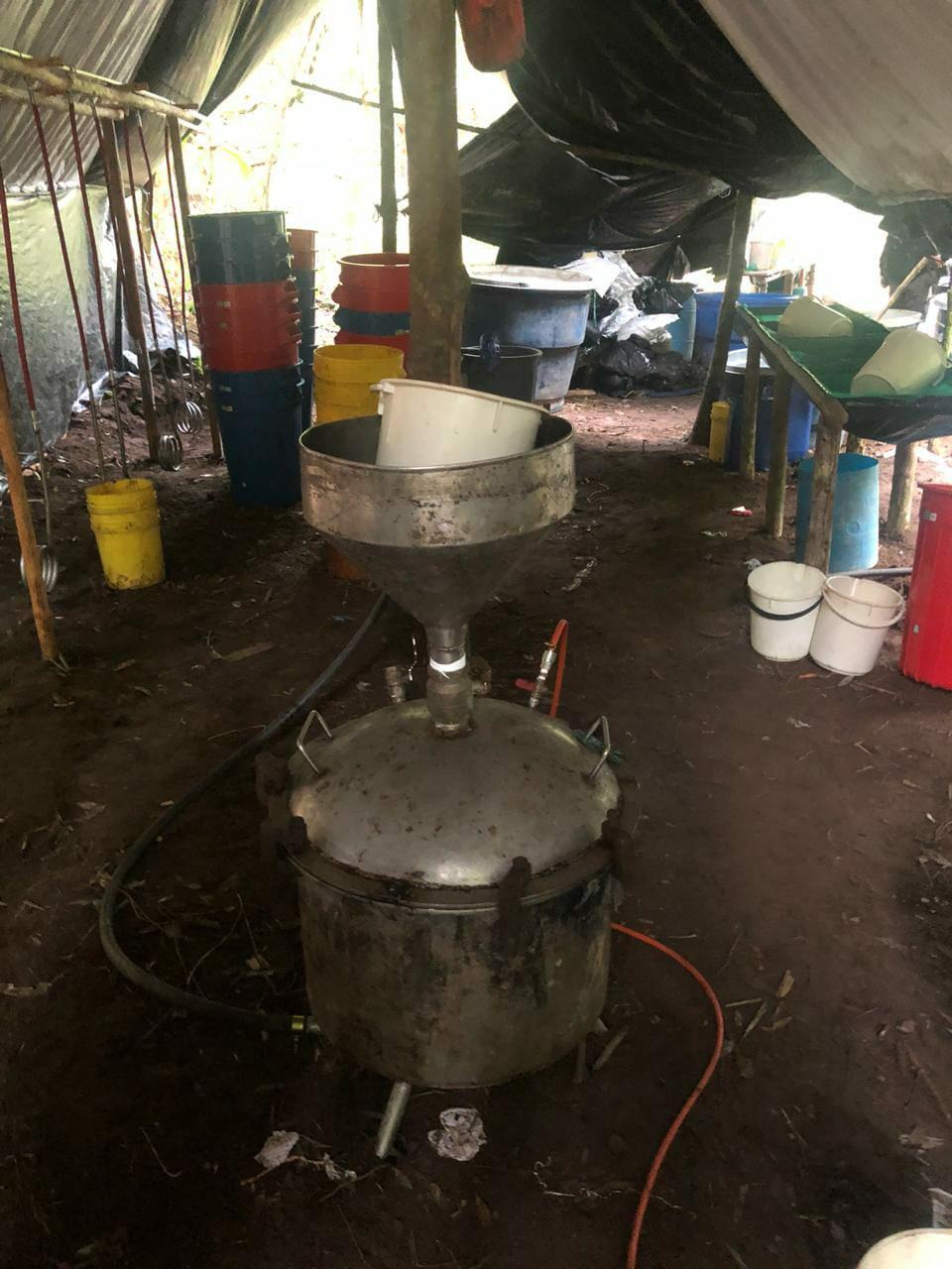 Ubican laboratorio para procesar  clorhidrato de cocaína, en zona rural  de Monterrey Casanare