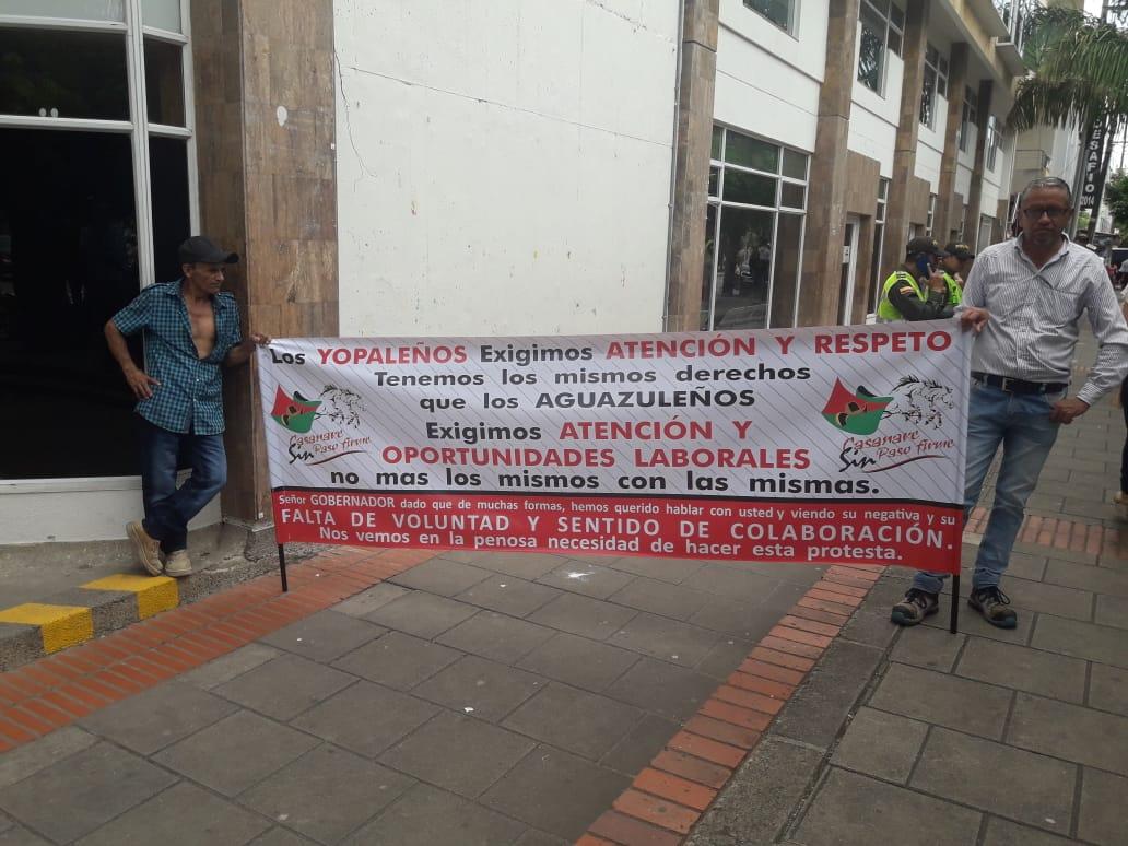 Profesionales yopaleños reclaman trabajo en la gobernación de Casanare