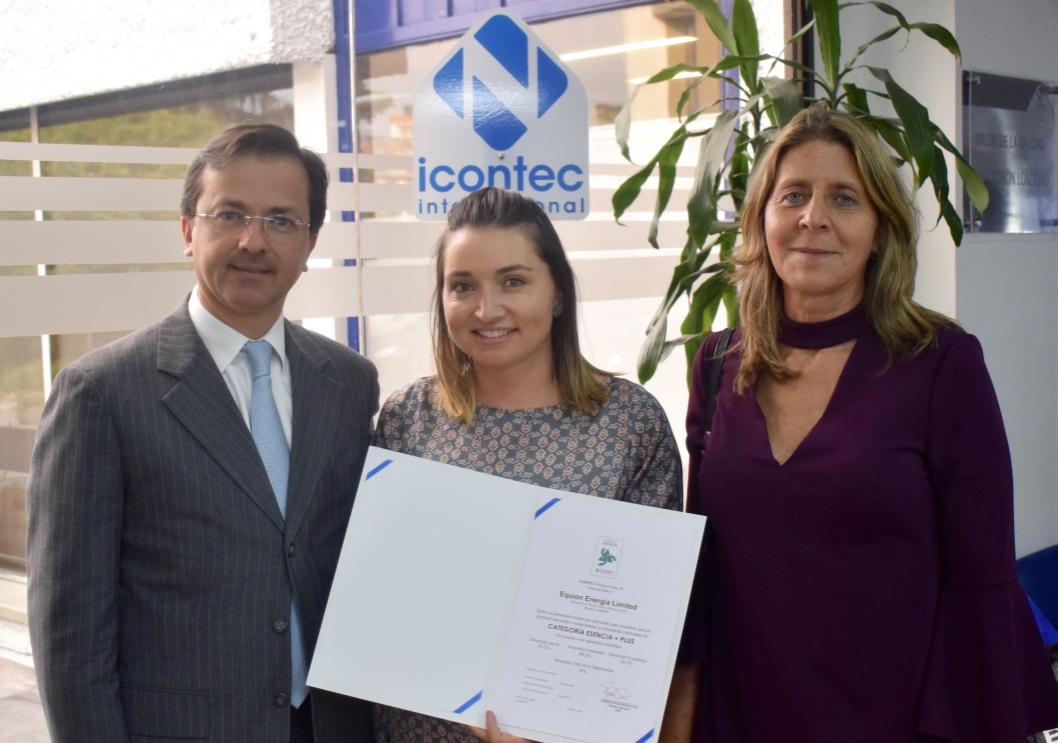 Equión Energía Limited, única empresa en Colombia con Sello de Sostenibilidad Esencia Plus