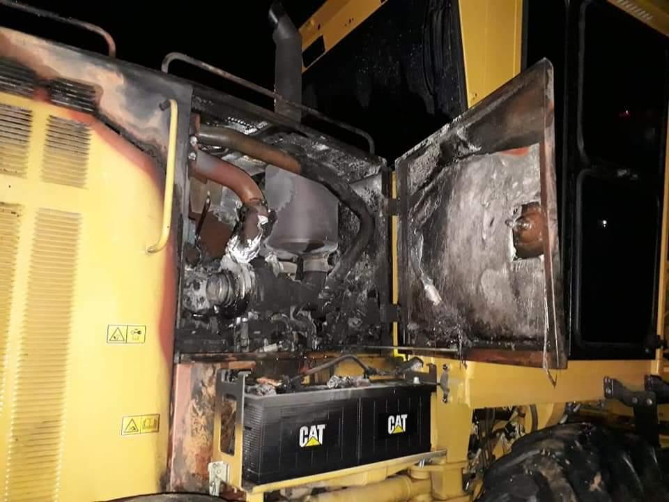 Desconocidos queman parte de maquinaria a Union  Temporal  Pore – Trinidad