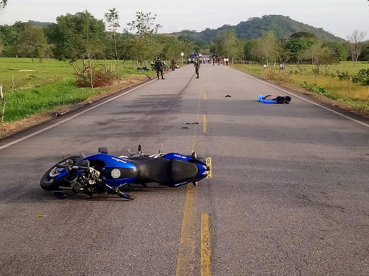 Muere motociclista al colisionar con un semoviente en vía  Hatocorozal Paz de Ariporo