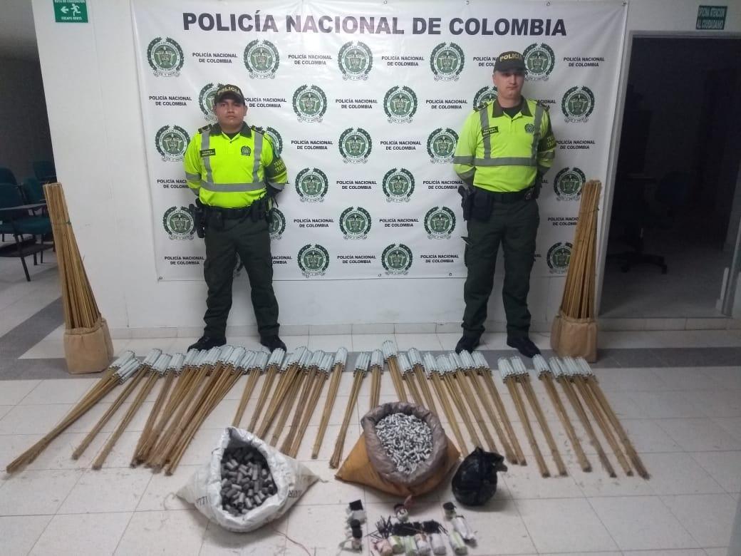 Policía realiza incautación de pólvora en Sabanalarga