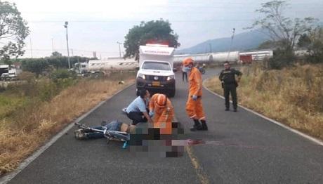 Muere en accidente de tránsito ciclista en Aguazul