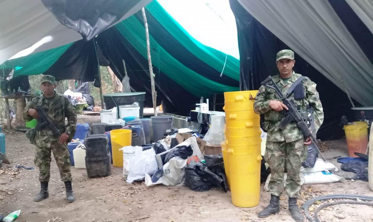 Ejército halló cristalizadero para el procesamiento de alcaloides en Orocuá