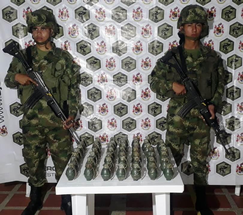 Ejército Nacional halló  depósito ilegal con  material de guerra en zona rural de Sácama