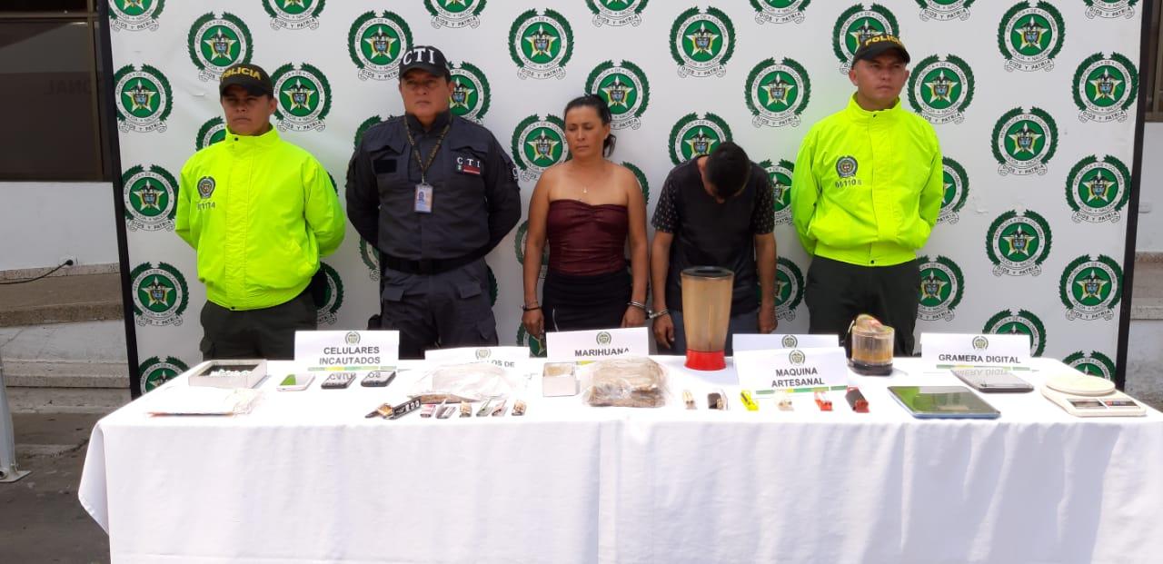 Capturan  pareja en Villanueva por vender marihuana en su residencia