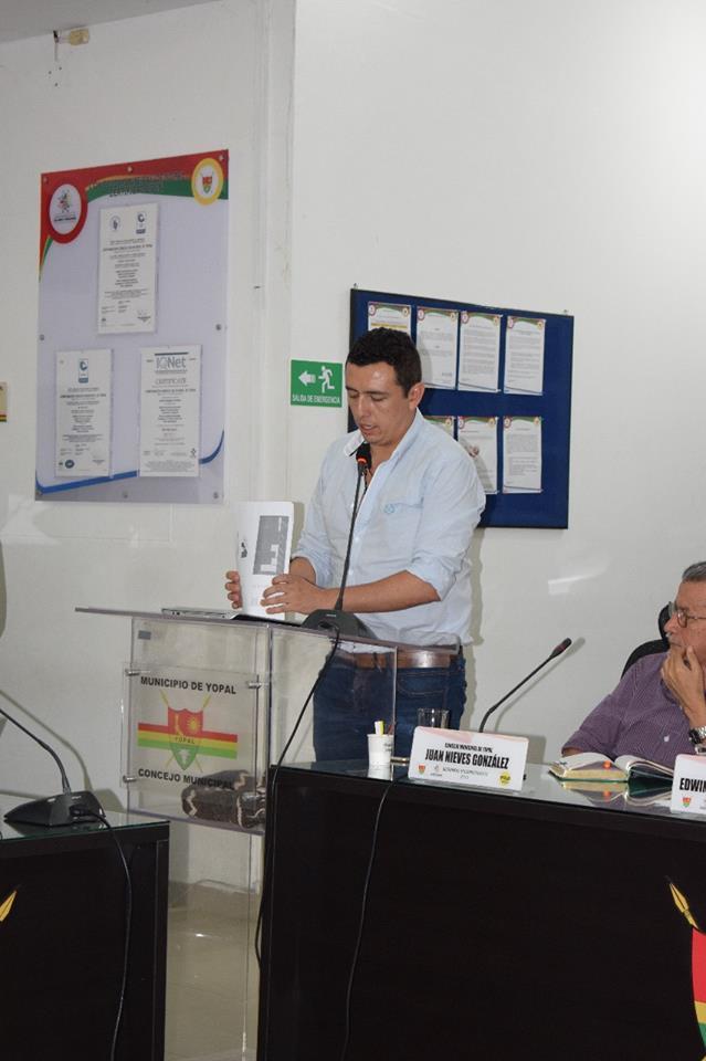 Secretario de Obras  de Yopal Guillermo Perez en la cuerda floja