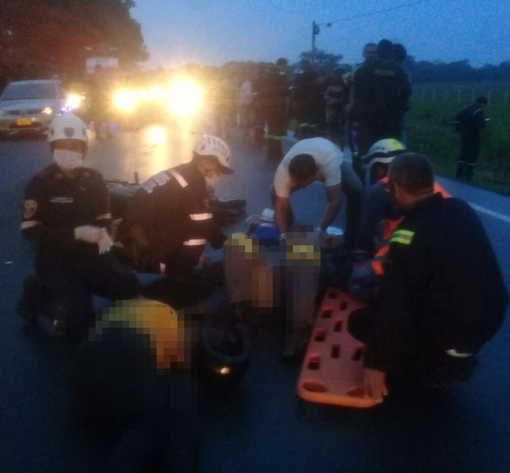 En accidente  de transito muere ciudadano en vía Aguazul Yopal y otra resulta con poli traumatismos