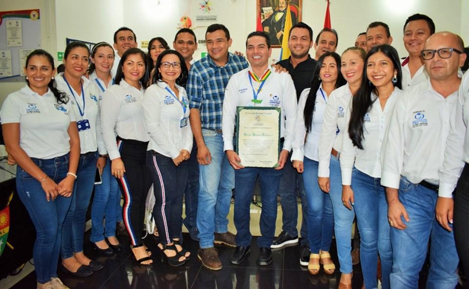 Concejo de Yopal reconoce labor de Edwin Barrera Rodríguez por la salud del municipio