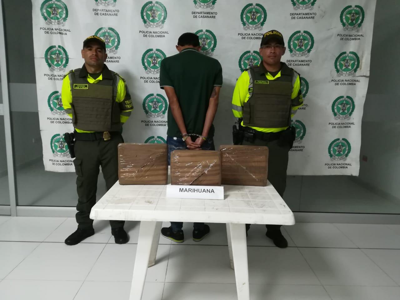 incautan de 5 kilos  de marihuana en vía  Villanueva Monterrey