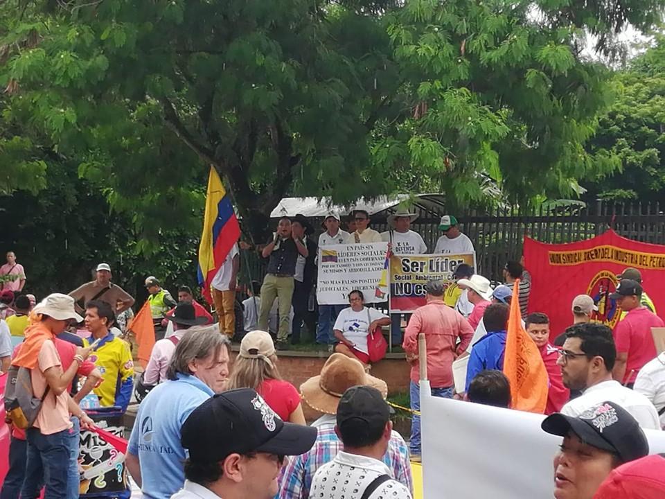 Lideres sociales marchan contra judicialización de protesta social en Casanare