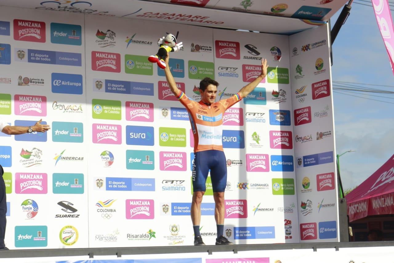 Oscar Sevilla arranca como líder de la Vuelta a Colombia en Pore