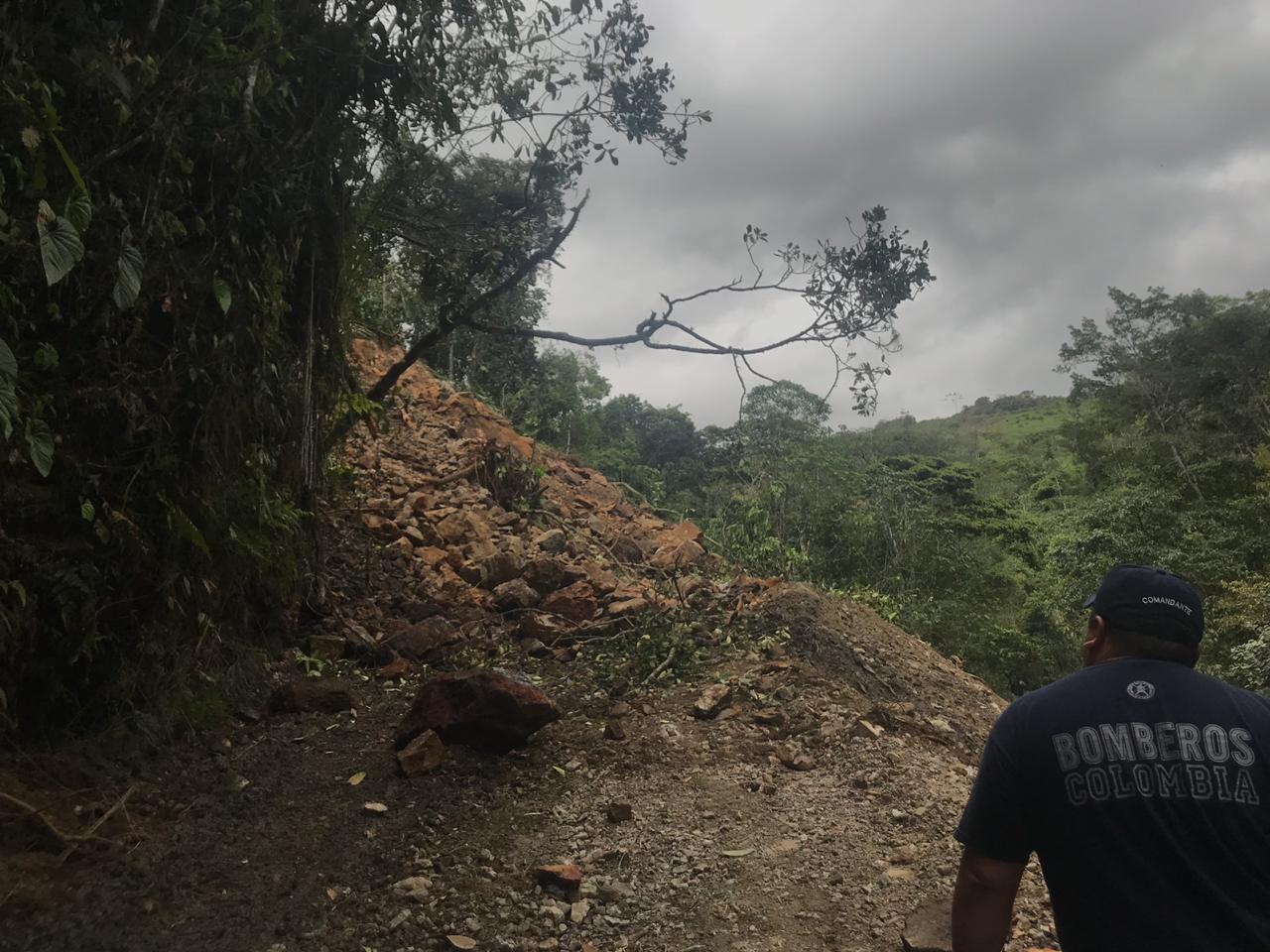 Incomunicada vereda Mundo Viejo de Chámeza por deslizamiento en via de acceso