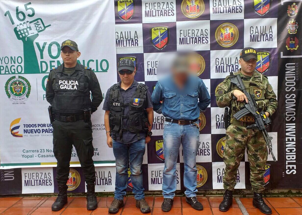 Capturado presunto extorsionista del grupo delincuencial Los Garbanzos