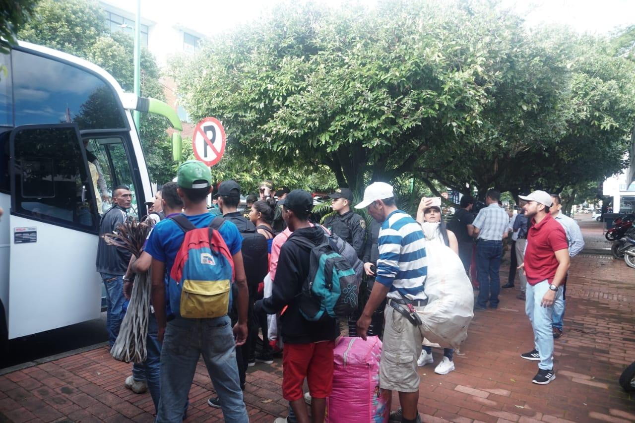 37 migrantes trasladados desde Yopal a zona de frontera entre Colombia y Venezuela