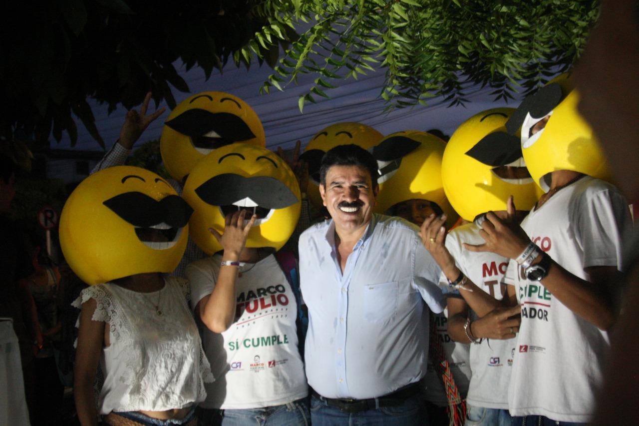 Cientos de voluntarios siguen sumándose a la campaña de Marco Tulio Ruiz