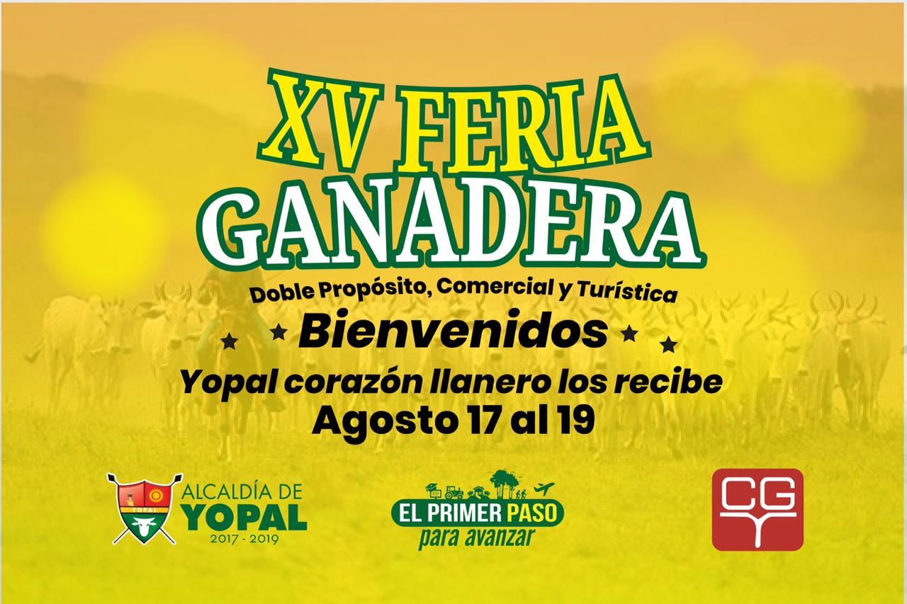 XV Feria Ganadera Doble Propósito, Comercial y Turística este fin de semana en Yopal