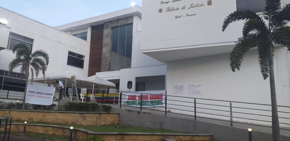 Justicia de Casanare paró para protestar por exceso de  trabajo