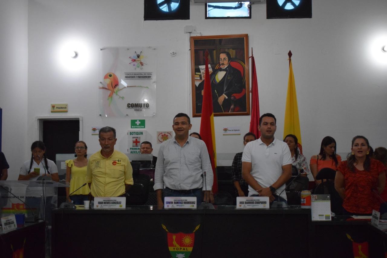 Comienzan sesiones ordinarias del  Concejo de Yopal